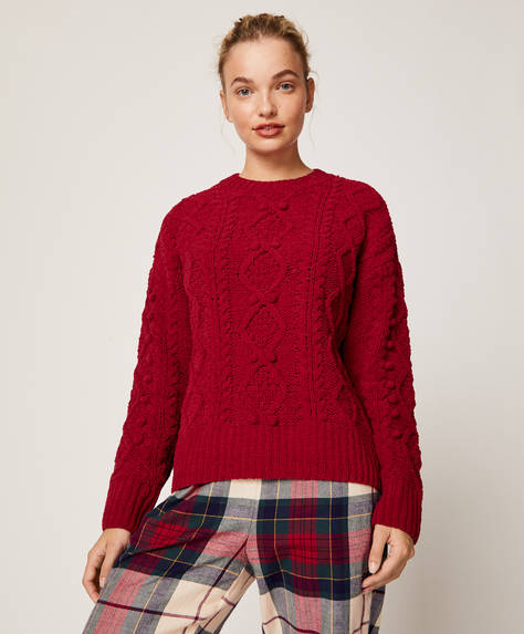 Chenille jumper with little balls