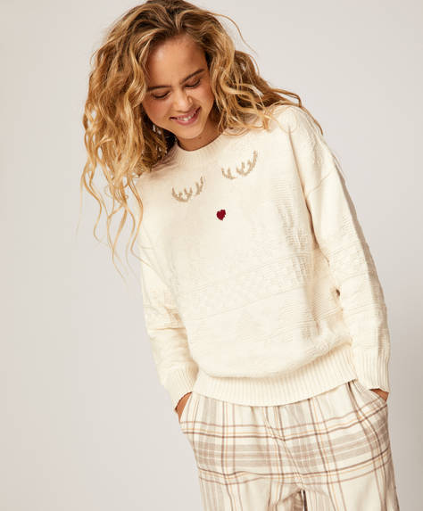 Total colour jacquard jumper