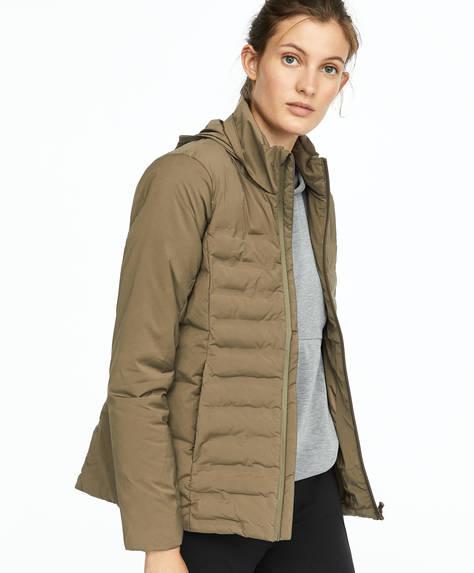 Khaki PrimaLoft® padded jacket