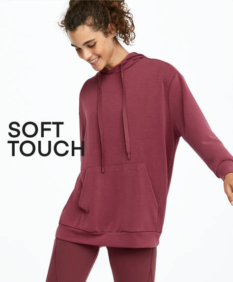 Oversize soft feel sweatshirt
