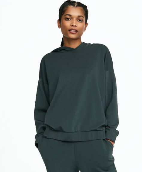 Sweatshirt with reinforced cuffs