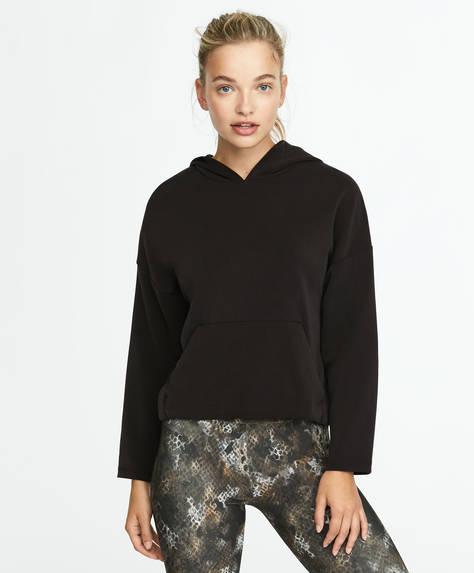 Sweatshirt med lomme foran
