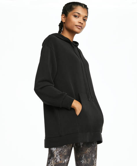 Black soft touch sweatshirt