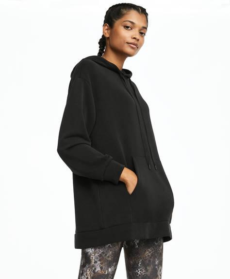 Μαύρο φούτερ με απαλή υφή