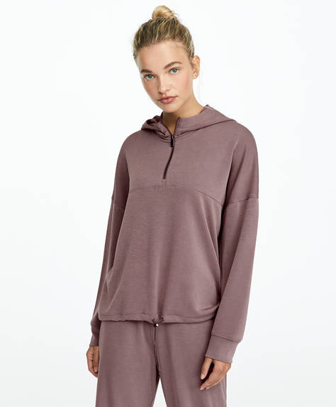 Loose fit soft touch sweatshirt