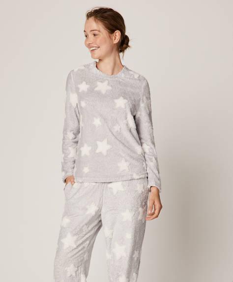 Jacquard star sweatshirt