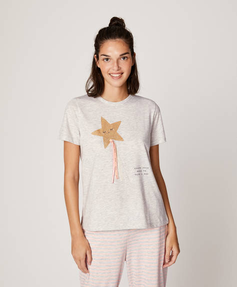 Short-sleeved magic wand T-shirt
