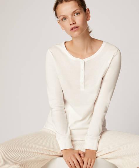Μπλούζα με κουμπιά στη λαιμόκοψη