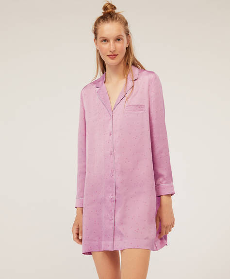 Satin nightdress with stars