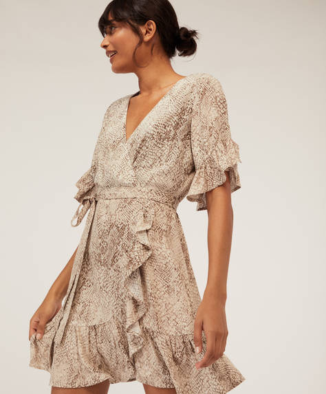 Short snakeskin dress