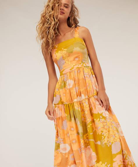 Vestido largo maxi flor