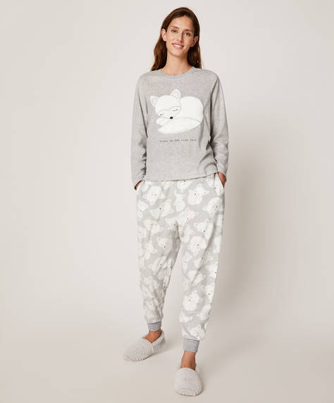 White fox trousers