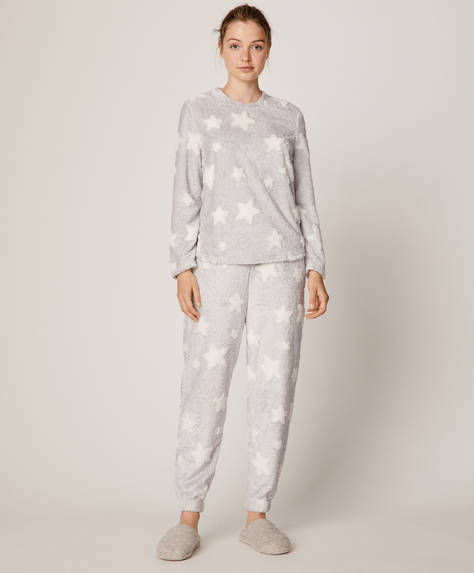 Jacquard star trousers