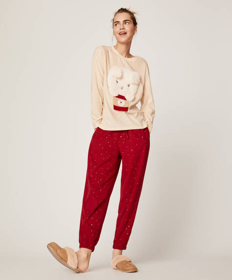 Fleece puppy trousers
