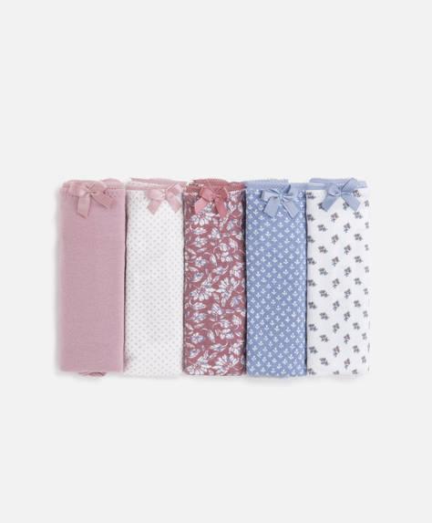 5 braguitas clásicas algodón