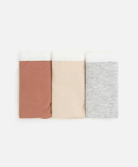3 Braguitas clásicas algodón logo