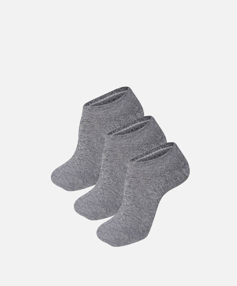 3 pairs of technical cotton footsies