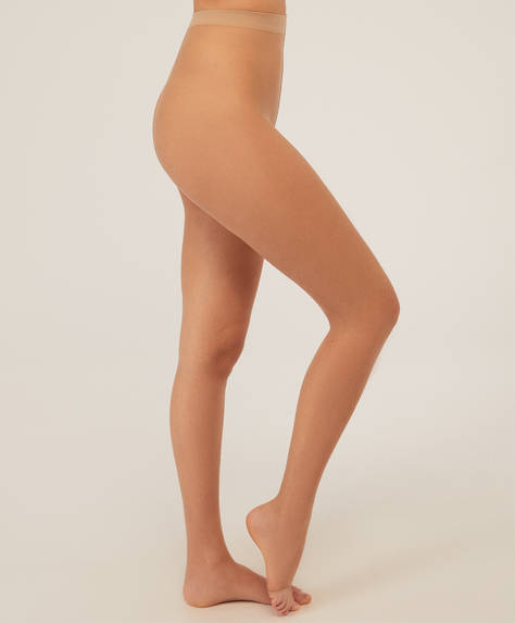 Panty toeless natural 8 DEN