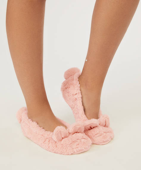 Pink mouse slippers