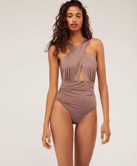 Draped wrap trikini