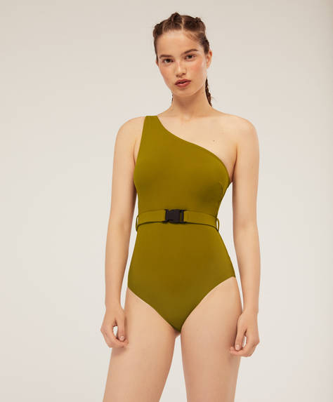 Asymmetrical athleisure swimsuit