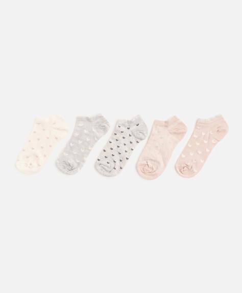 5 calcetines corazón