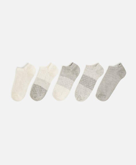 5 Paar Socken in neutralem Grau
