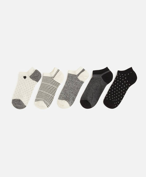 5 pairs of heart ankle socks