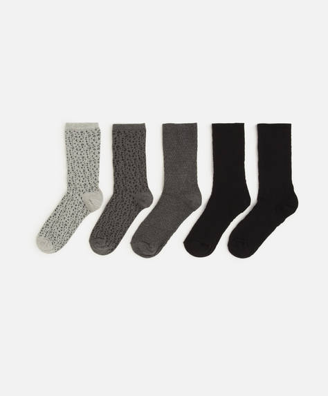 5 pairs of animal print socks