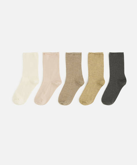 5 pairs of stripe socks