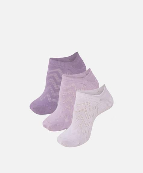 3 paires de socquettes invisibles avec Tactel®