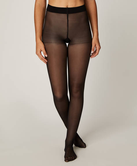 Plain 30 denier compression tights