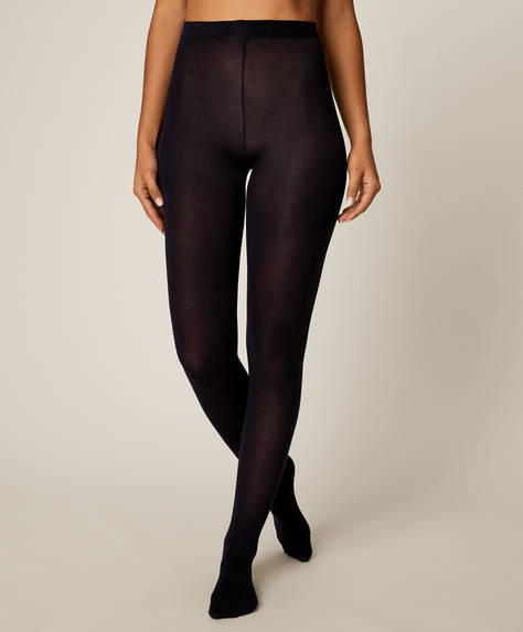 Plain thermal 100 denier tights