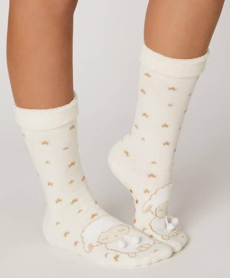 1 par de calcetines polares oveja