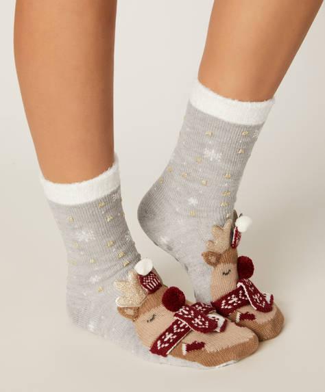1 par de calcetines reno