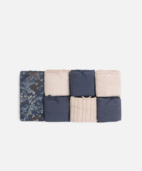 7 braguitas clásicas algodón