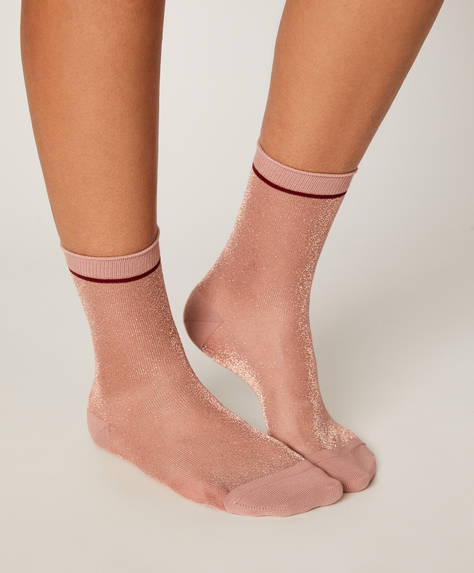 1 pair of metallic thread socks