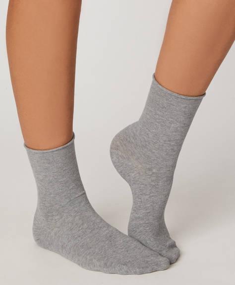 1 ζευγάρι κάλτσες απλής ύφανσης basic