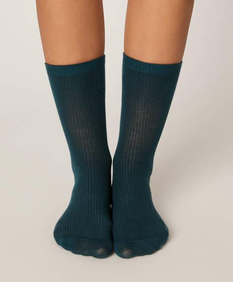 1 pair of basic ribbed socks