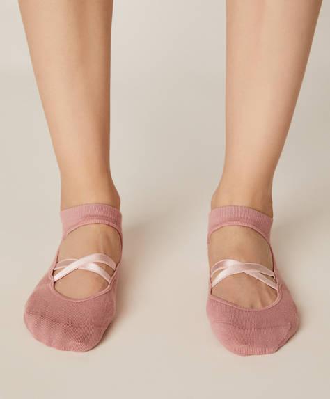 Pack de deux paires de chaussettes yoga et Pilates