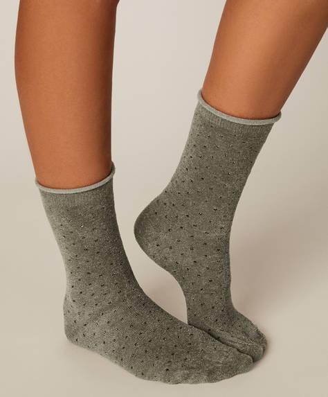 1 ζευγάρι κάλτσες σενίλ