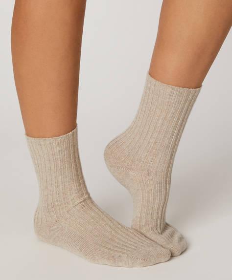 1 paio di calzini a maglia spessa