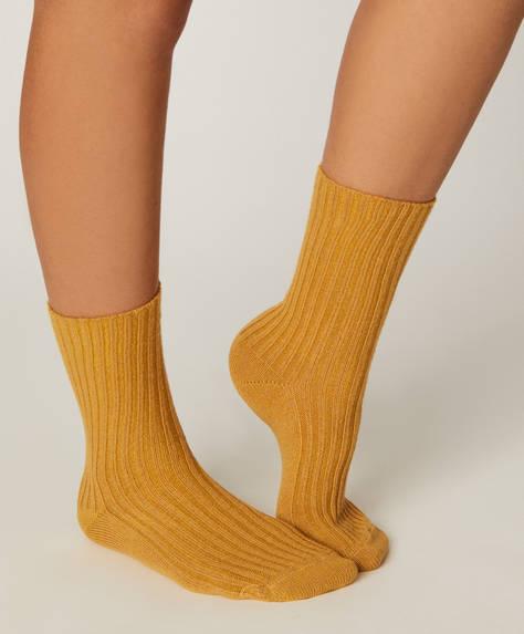 1 ζευγάρι κάλτσες χοντρής πλέξης