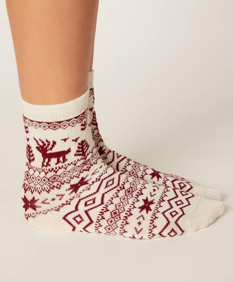 2 paires de chaussettes de Noël