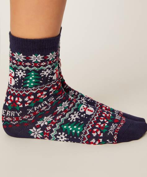 2 pares de calcetines navidad