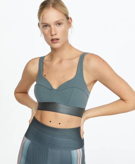 Shine block sports bra