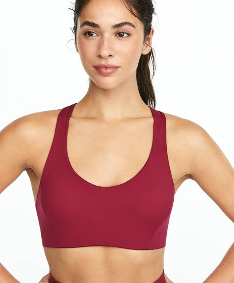 Light skin touch sports bra
