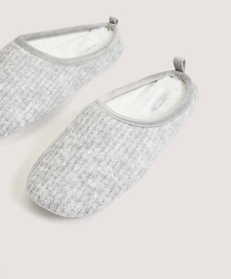 Basic flecked slippers