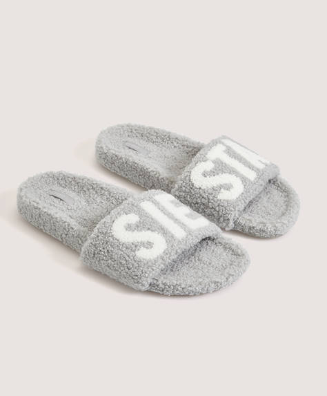 "Textured ""SIESTA"" slides"