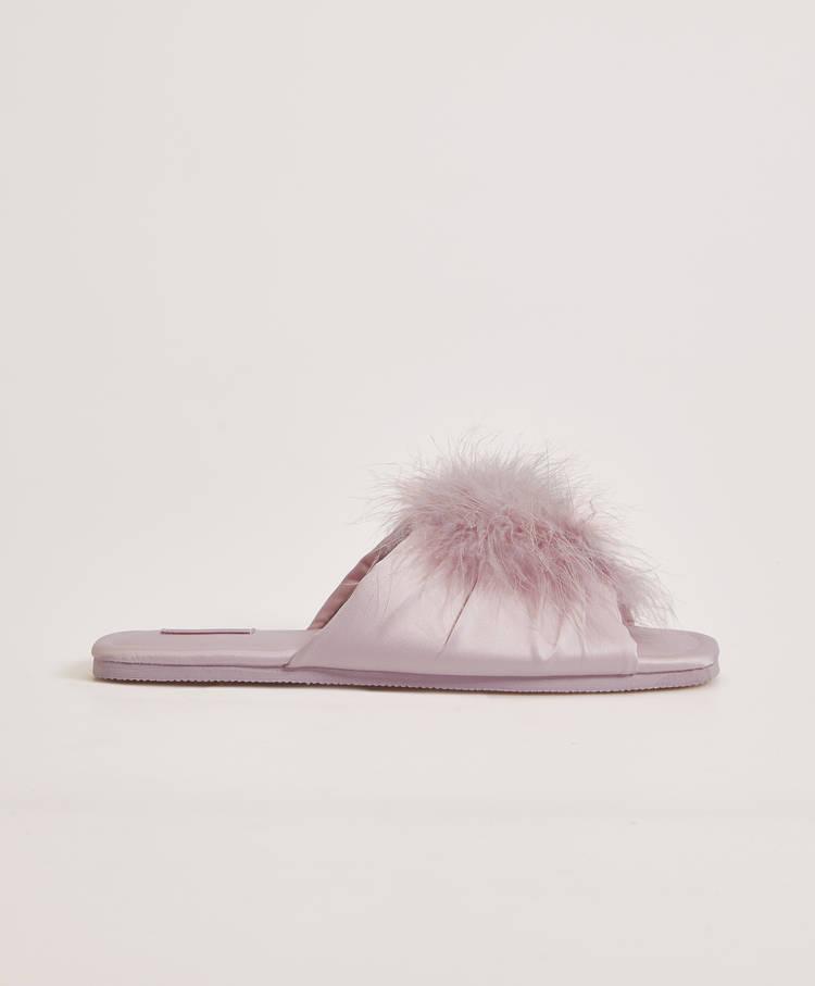 deb55a75de41 Marabou pompom sandals - Slippers - Pyjamas and homewear